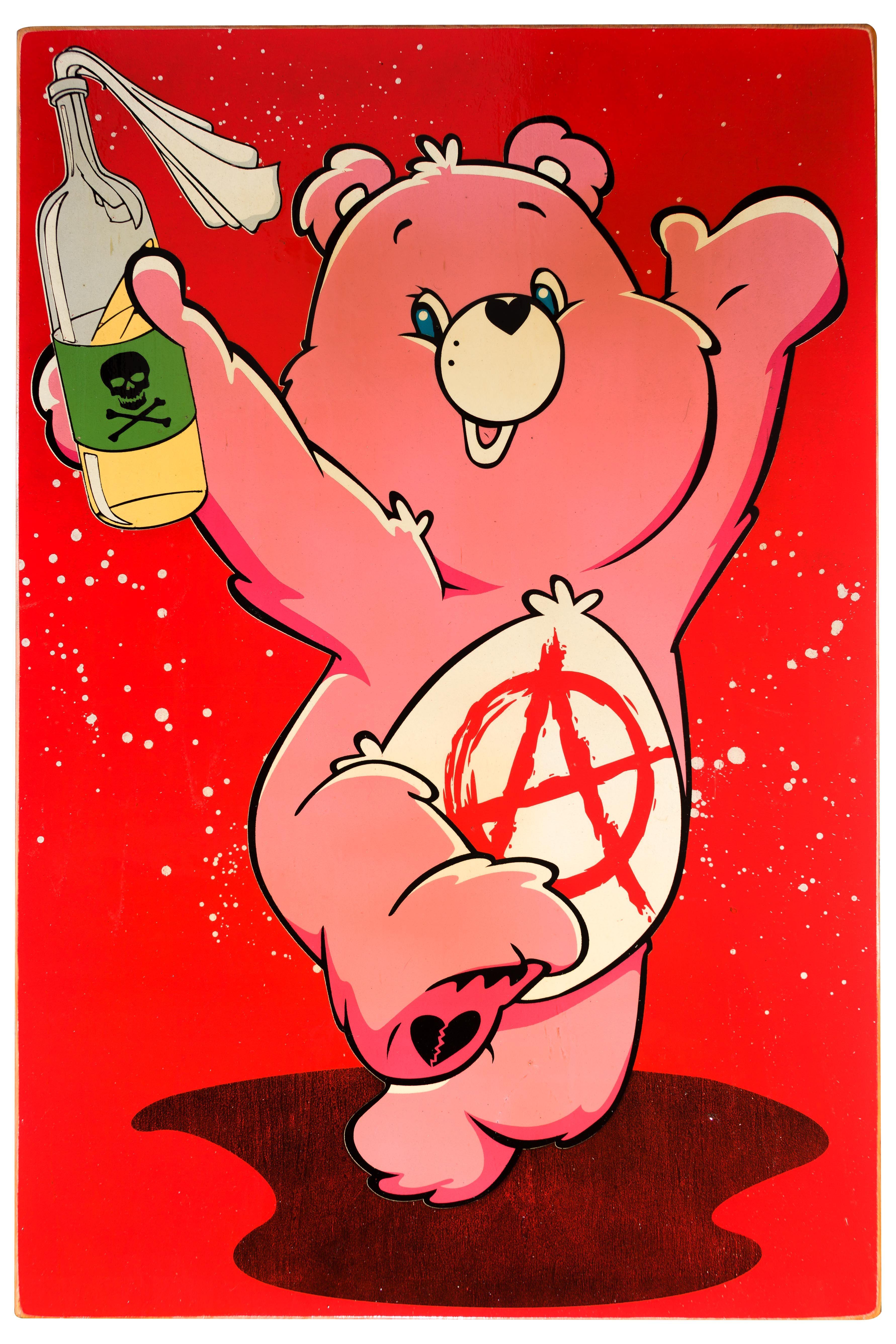 I Don T Care Bear Trippy Cartoon Trippy Drawings Bear Wallpaper