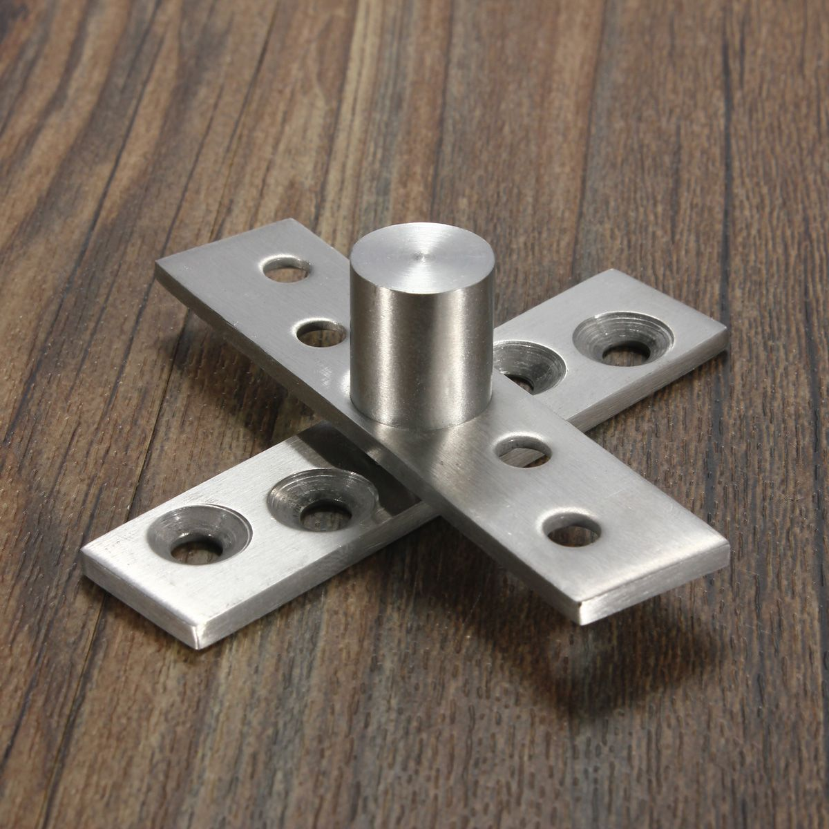 2pcs 360 Degree Door Pivot Hinge Hardware Silver 74mm Length Door Hardware Interior Wooden Glass Door Door Hardware
