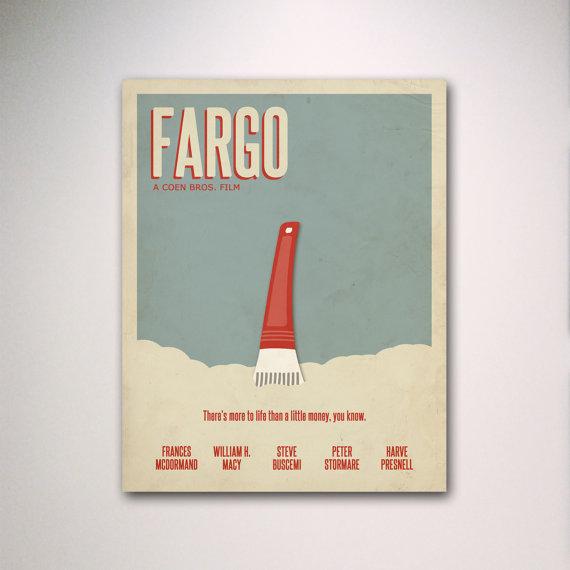 Cartel de la película minimalista de Fargo