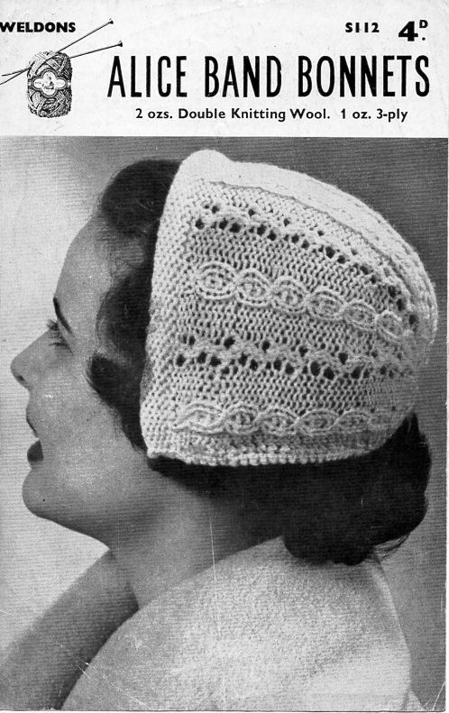 PDF Download 3376 Ladies 40s angora hat pattern Ladies Womens 1940s Angora calot hat knitting pattern One Size