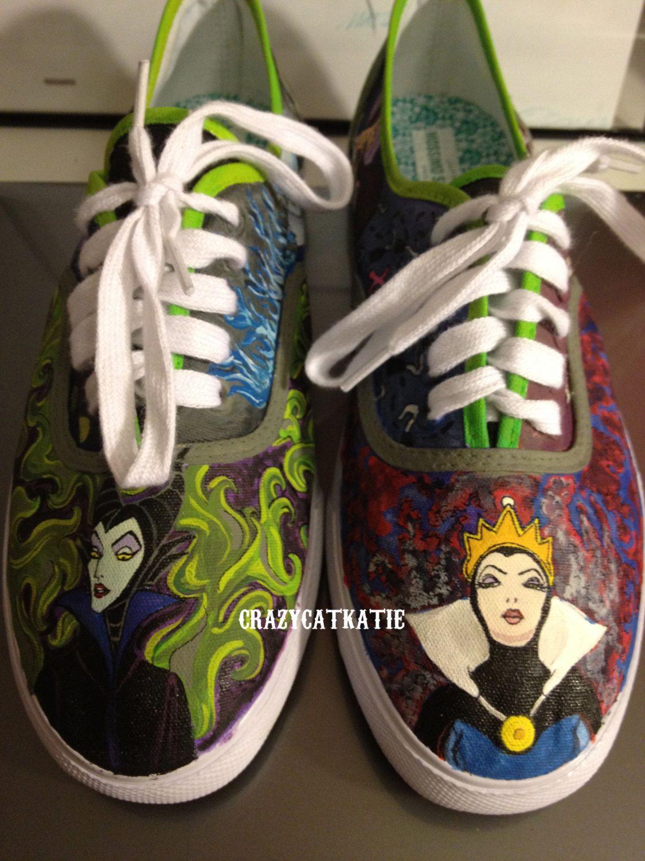 ff475b47f1ed Custom Hand-Painted Shoes  Disney Villain Shoes.  100.00
