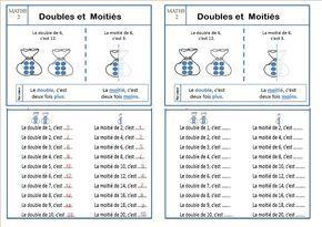 Maths 2 Ce1 Doubles Et Moitiés La Classe Des Ce De Villebois Maths