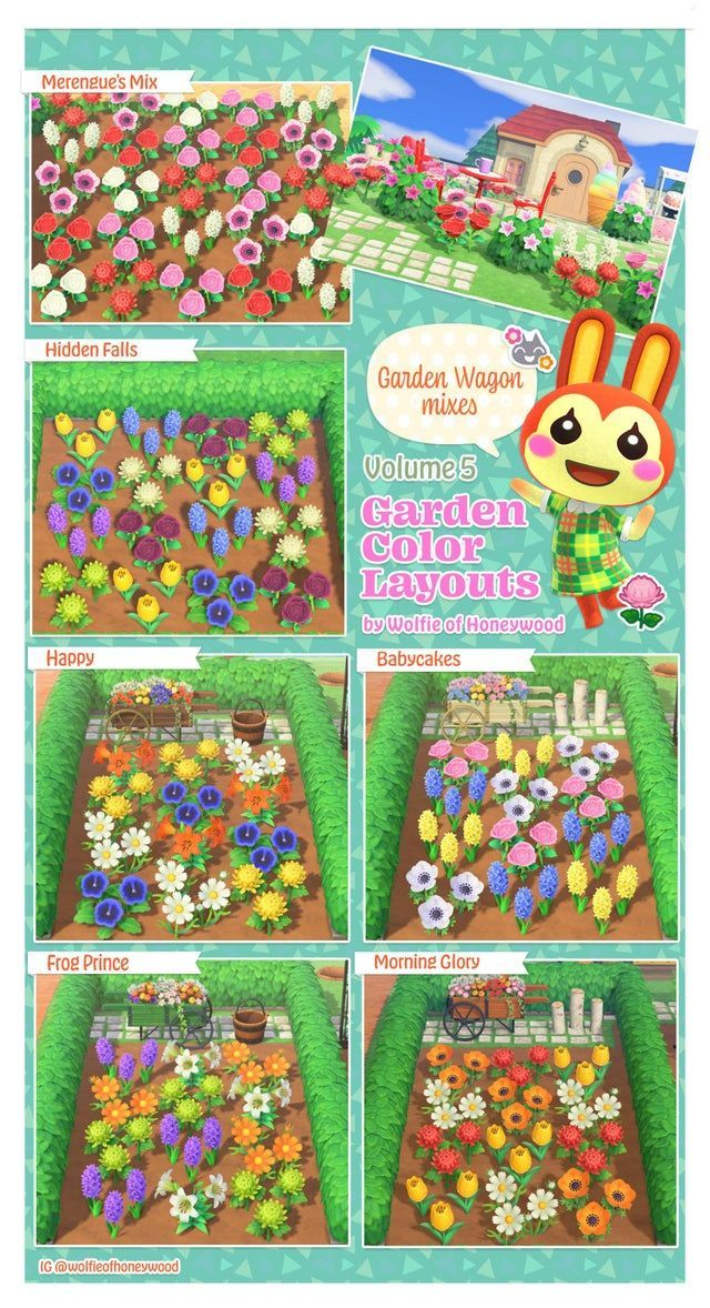 Volume 5 Garden Color Layouts AnimalCrossing in 2020