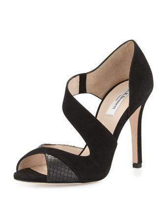 LK Bennett Shoes | L K Bennet Imogen Black Ankle Strap