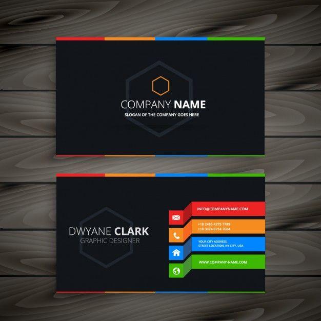 cartão preto Business cards, Black business card and Business - visiting cards