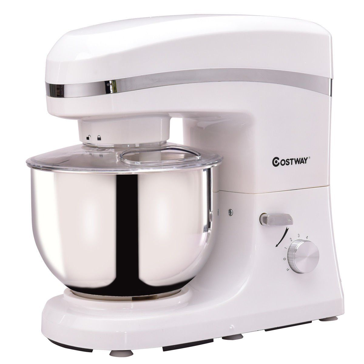 Costway Tilthead Stand Mixer 5 3qt 6speed 120v 800w Electric Food Mixer W Stainless Steel Bowlwhite Check Out This Great Product This Is An Affiliate Link