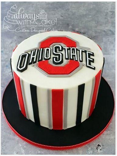 Ohio State Cake With Images Ohio State Cake Buckeye Cake