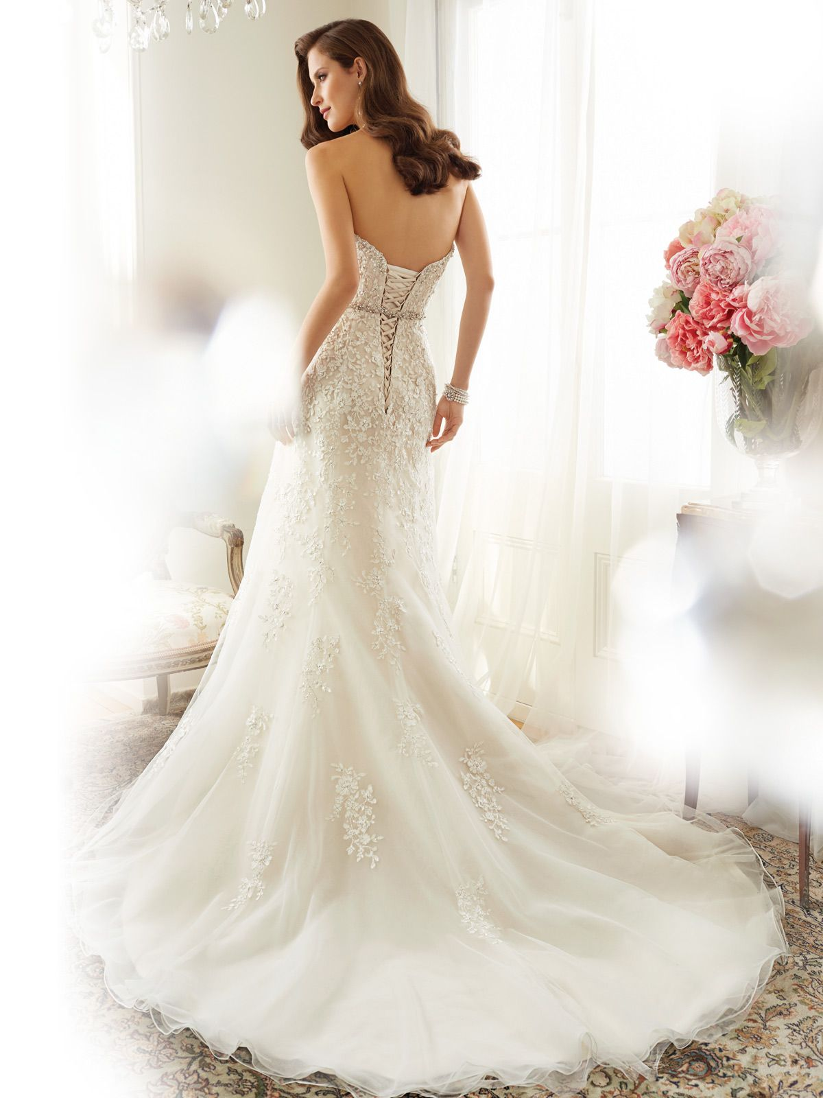ALine Wedding Dress with Strapless Neckline  Wedding dress