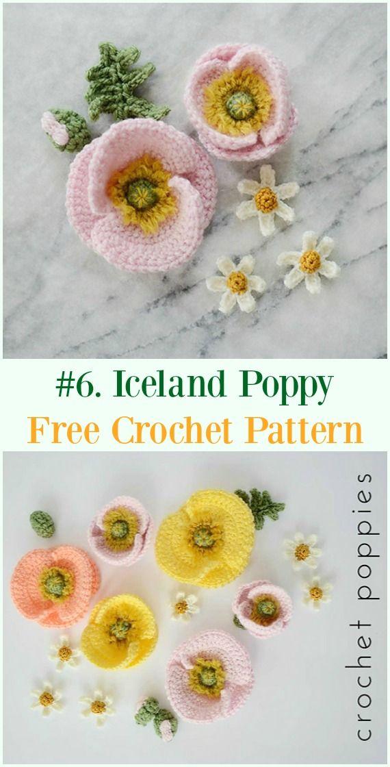 Crochet Poppy Flower Free Patterns
