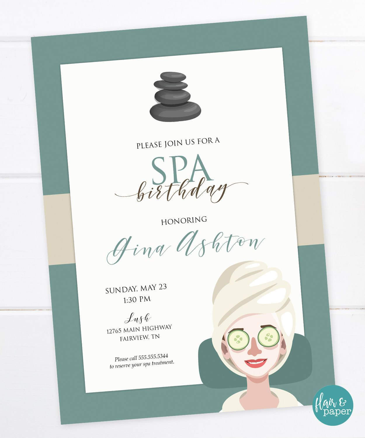 Spa Birthday Invitation Spa Day Spa Party Invitation Spa Bridal Shower Baby Shower Pamper Me Party Digital Printable File By Flairandpaper On Etsy