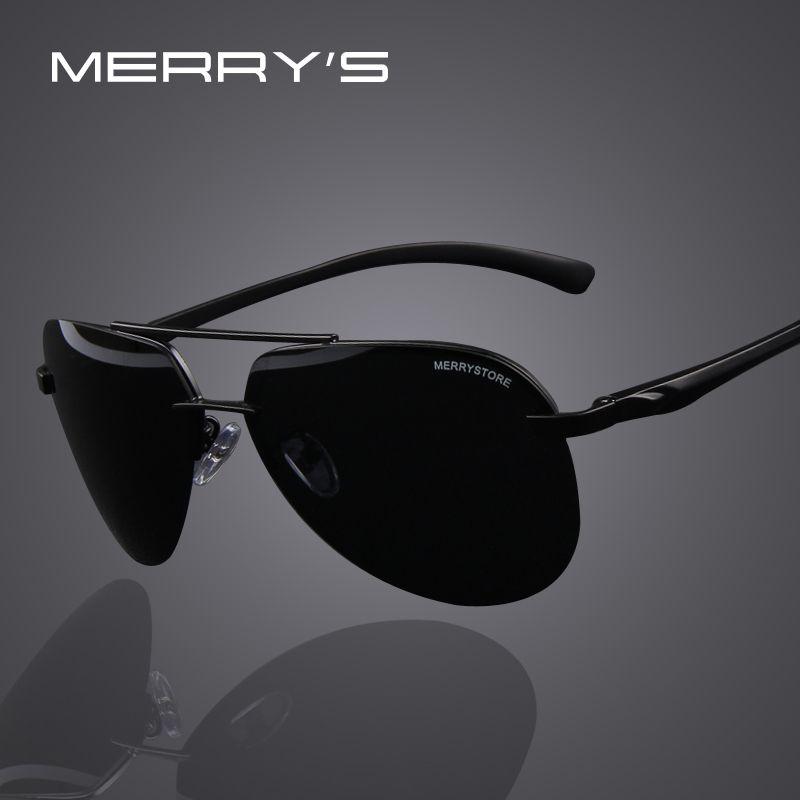 MERRY\'S Marca Hombres 100% Aleación De Aluminio Marco de gafas de ...
