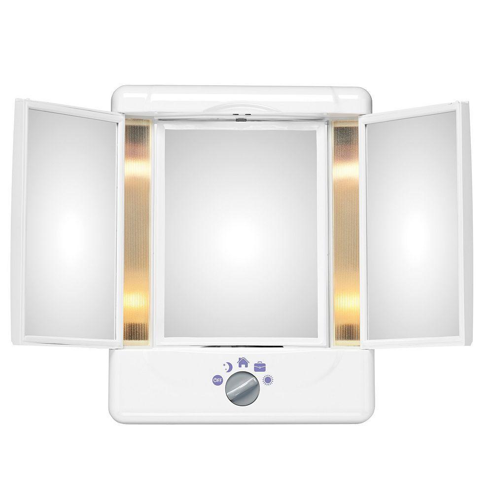 Conair Illumina Collection 3 Panel Lighted Makeup Mirror Makeup