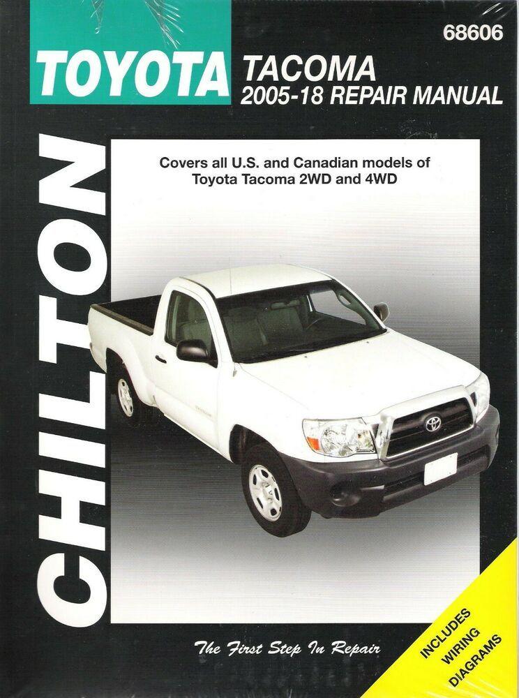 informafutbol.com 2005-2018 Toyota Tacoma 2WD 4WD Chiltons Service ...