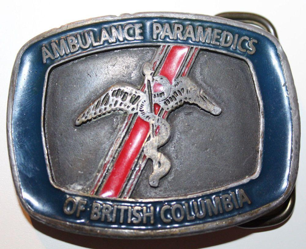 Ambulance paramedics of british columbia canada belt