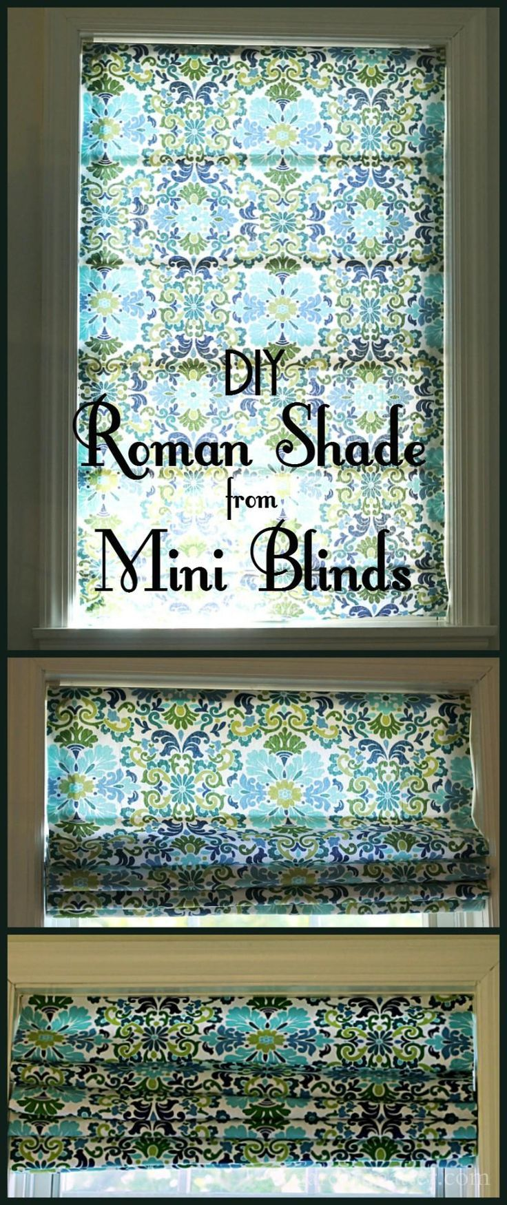 Roman Shade Tutorial Made From Cheap Mini Blinds Diy Roman