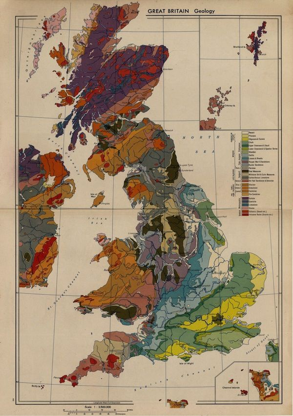 How to make your own vintage maps great britain geology map 1956 how to make your own vintage maps great britain geology map 1956 gumiabroncs Choice Image