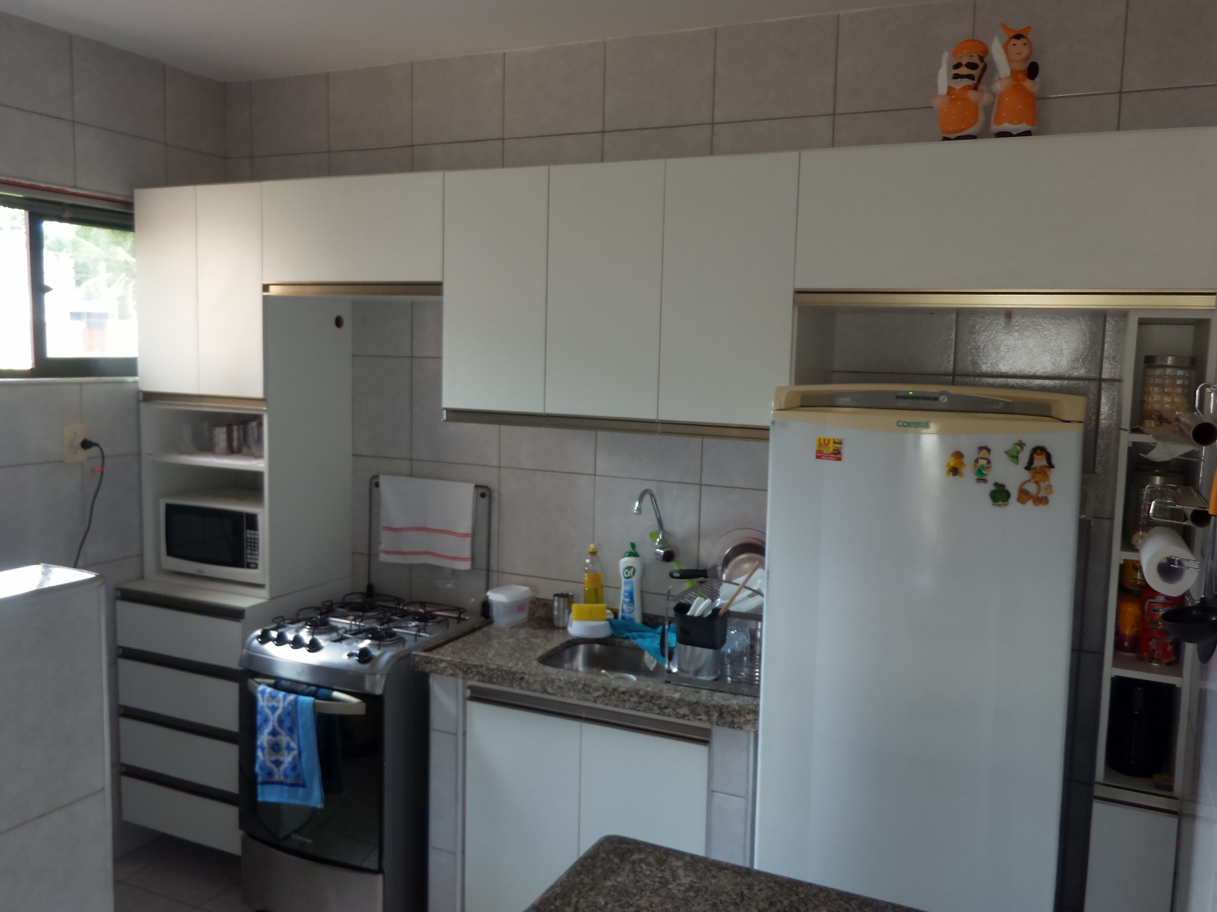 Cozinha Completa Em Mdf Branco Fosco E Perfil Inox Como Acabamento