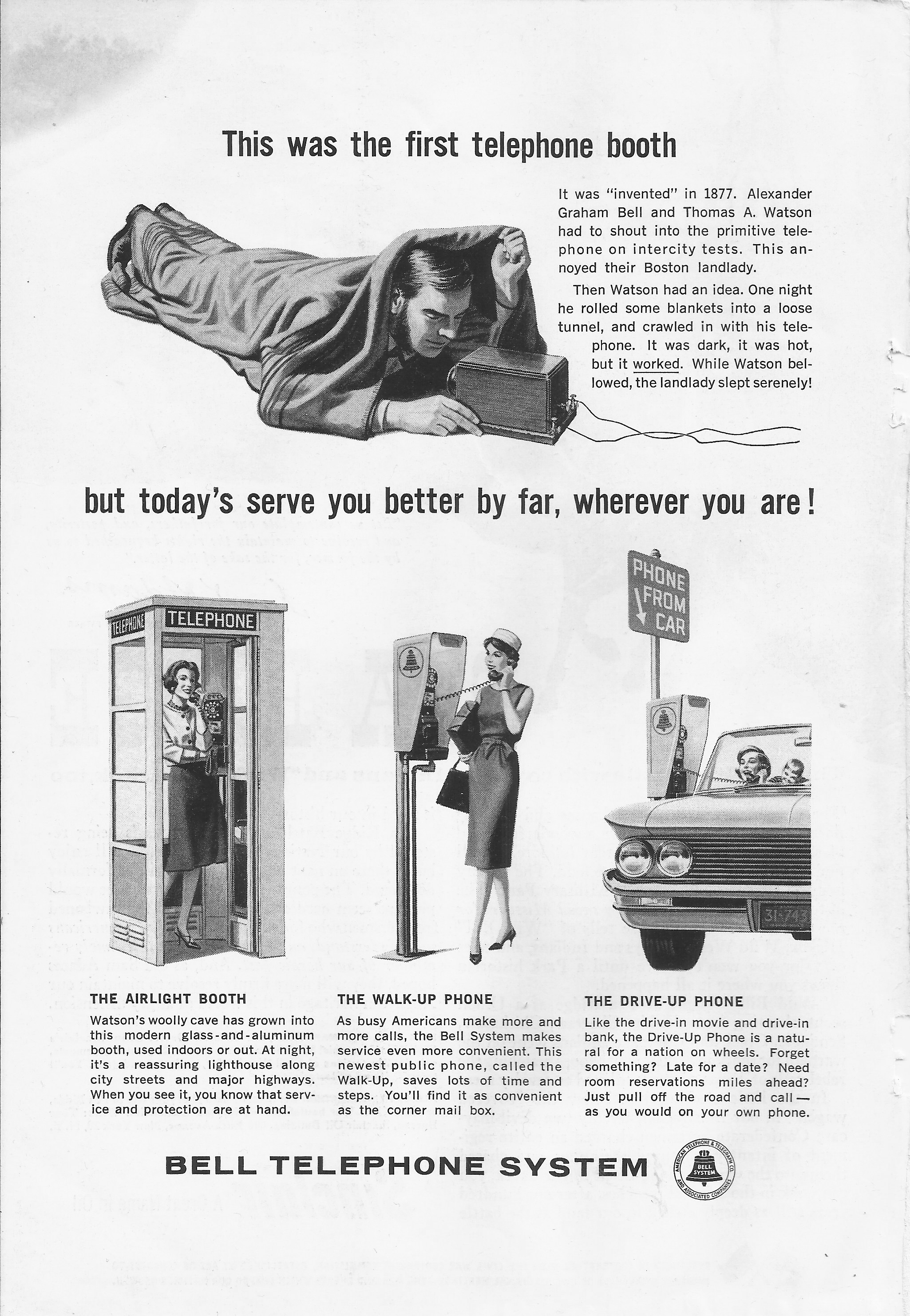 Who Remembers Drive Up Pay Phones Bell Telephone System November 1961 Old Ads Vintage Ads Print Ads