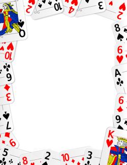 Playing Card Border Printable Playing Cards Playing Card Crafts Playing Cards