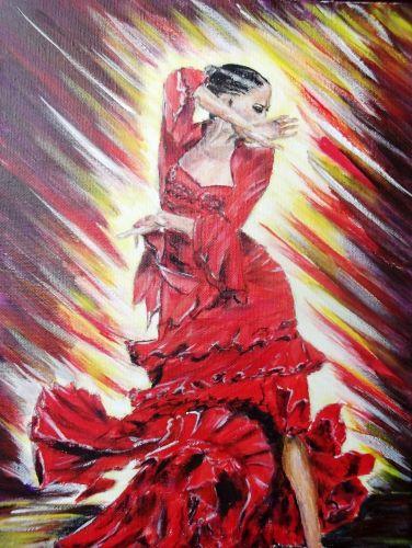 Danseuse de flamenco tableau peinture pinterest - Danseuse flamenco dessin ...