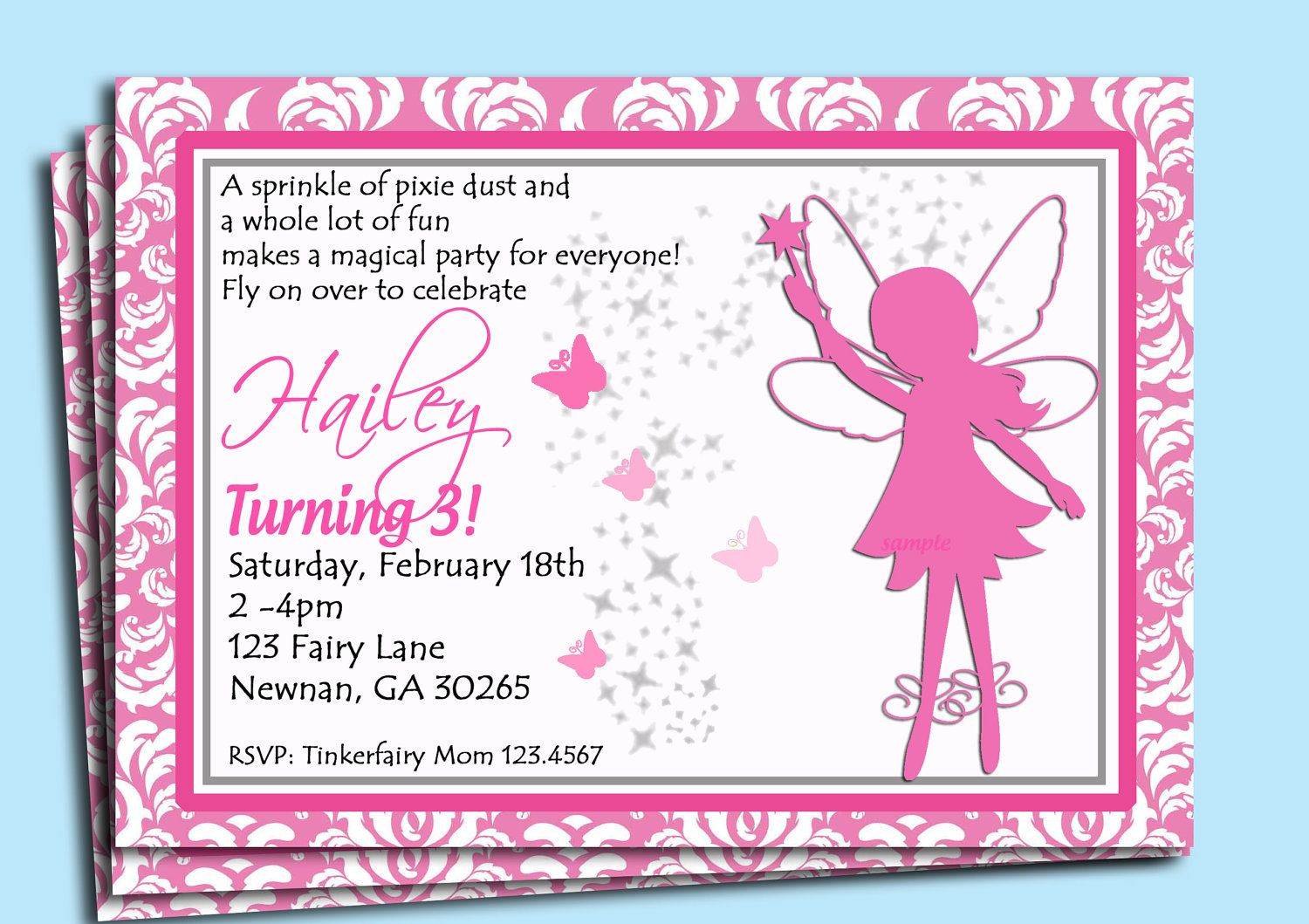 Fairy Invitation Printable or Printed with FREE SHIPPING - Fairy ...