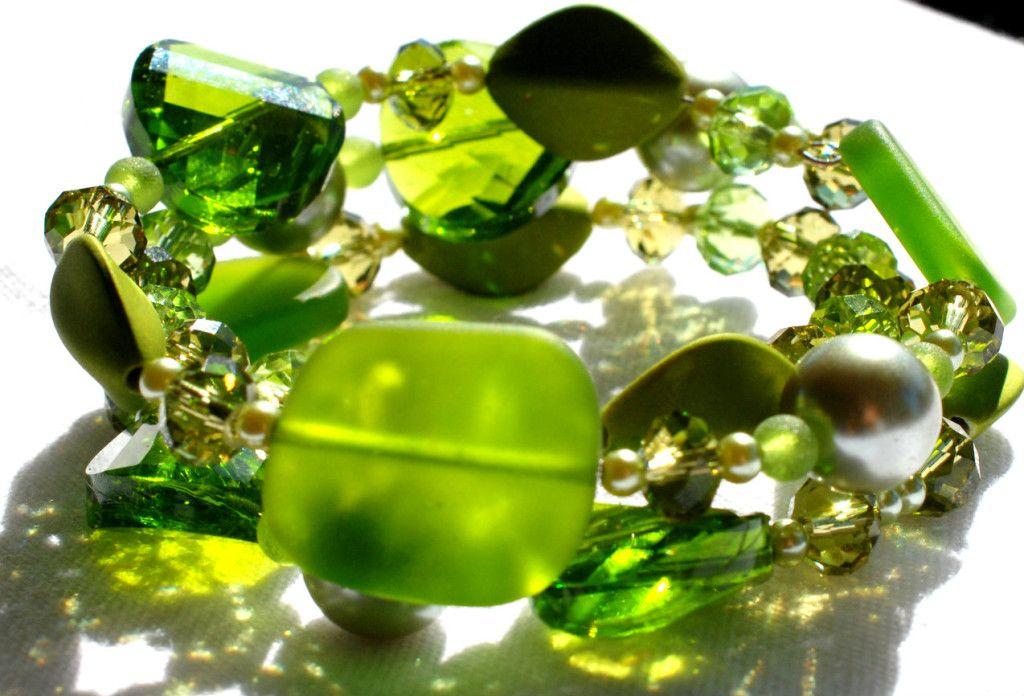 Beautiful, Sea Glass Memory Wire Bracelet by Andrea Trank ~Heaven Lane Creations