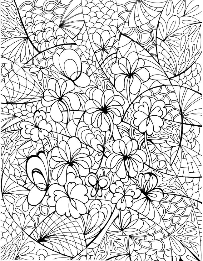 Creative Haven Floral Frenzy Coloring Book Dover Coloring Pinterest Dover publications ...