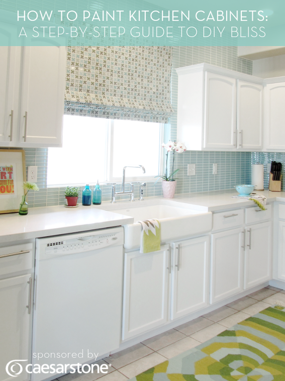 How To Paint Kitchen Cabinets A Stepbystep Guide To Diy Bliss Delectable How To Paint Kitchen Cabinets White Decorating Design