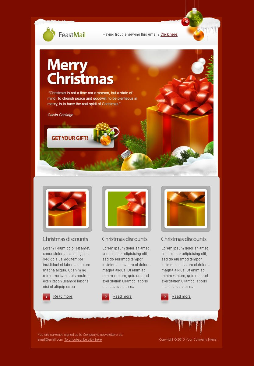 Feastmail Christmas And Corporate Email Template Christmas