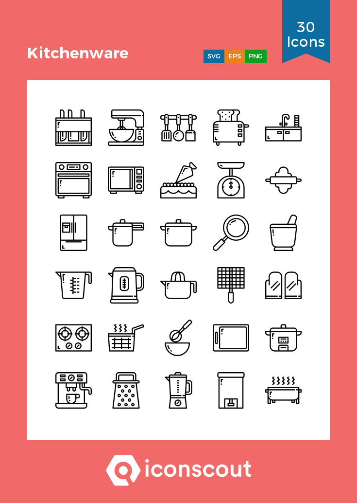 Download Kitchenware Icon Pack Available In Svg Png Eps Ai Icon Fonts Icon Pack Kitchenware Icon