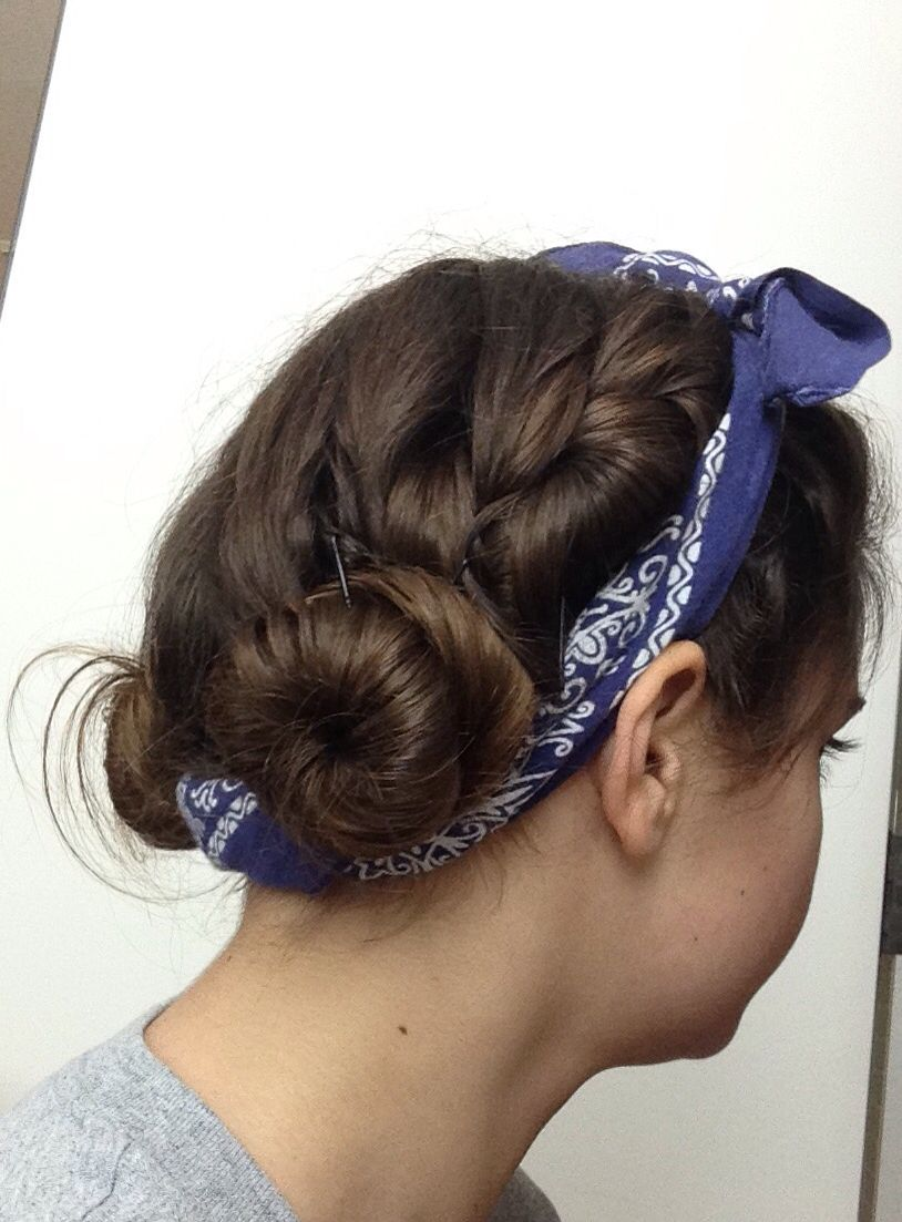 French buns My own hairstyles Pinterest French bun