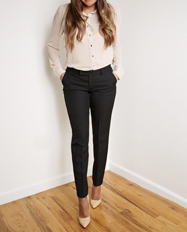 60a0271c933 Cream top and Cream shoes! Screams sophistication!! | Boss Lady Gear ...
