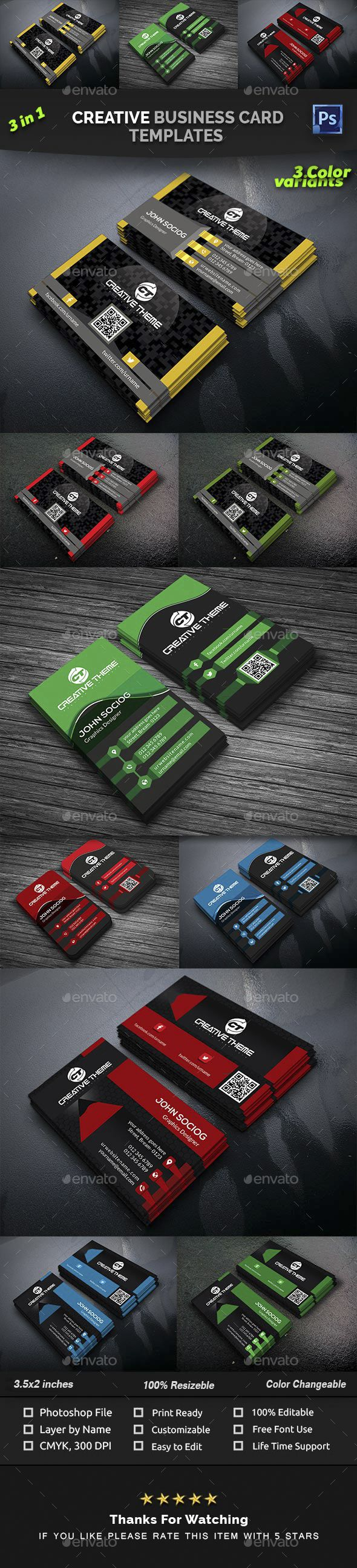 Creative business card templates creative business cards 3 in 1 creative business card templates creative business cards 3 in 1 bundle business card business card bundle card clean creative design designer reheart Images