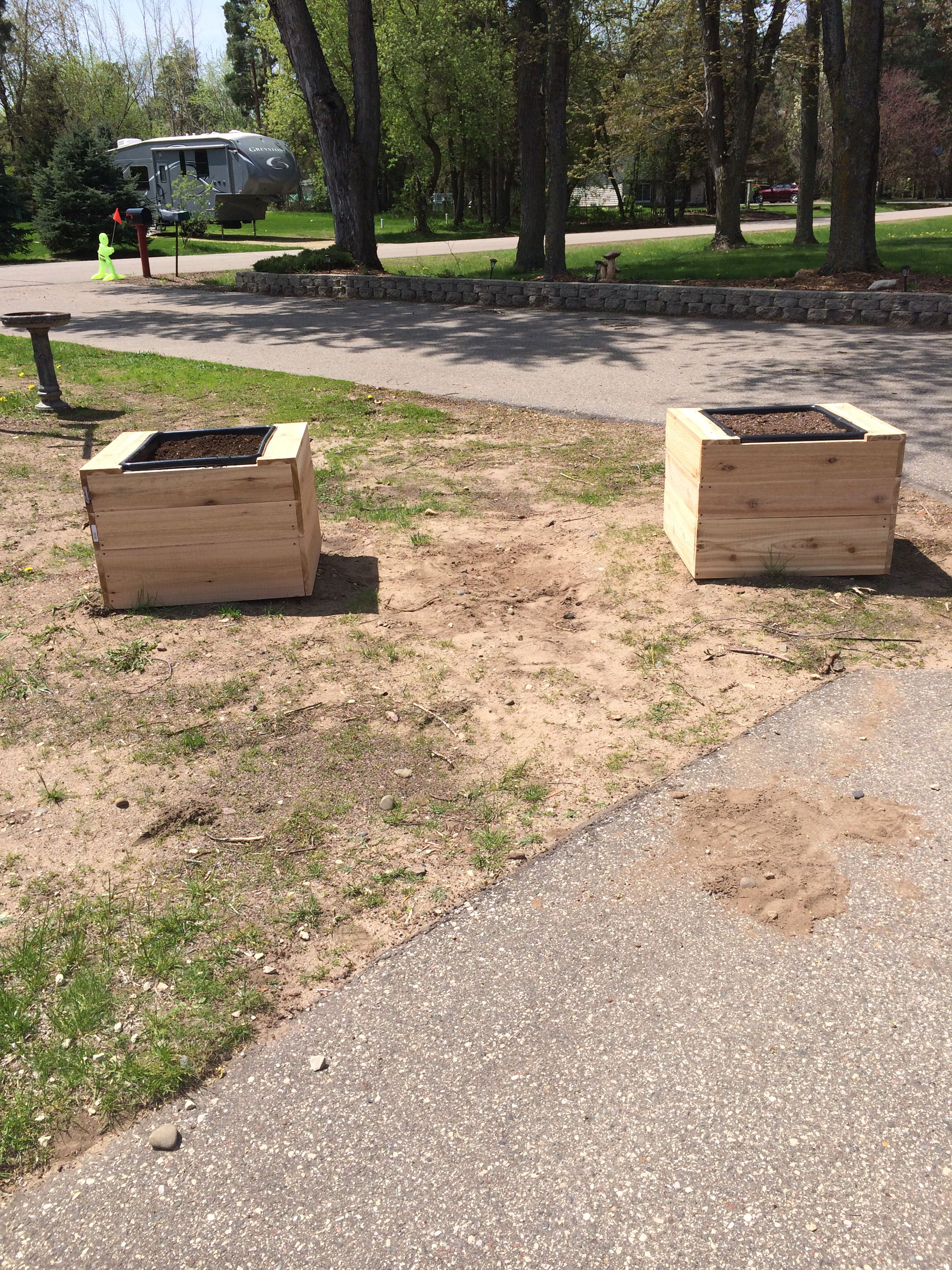 planter boxes to cover septic tank covers