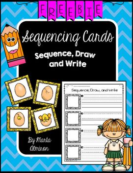 TRIPLE CELEBRATION DAY 3: FREEBIE!Students sequence the set of cards provided, draw and write describing each card on the sheet provided or on any paper. Perfect for a literacy center! To save paper and copies, I place the recording sheet in a plastic sleeve, and students use dry erase markers to write and draw.Includes: 6 sets of sequencing cards (color coded).