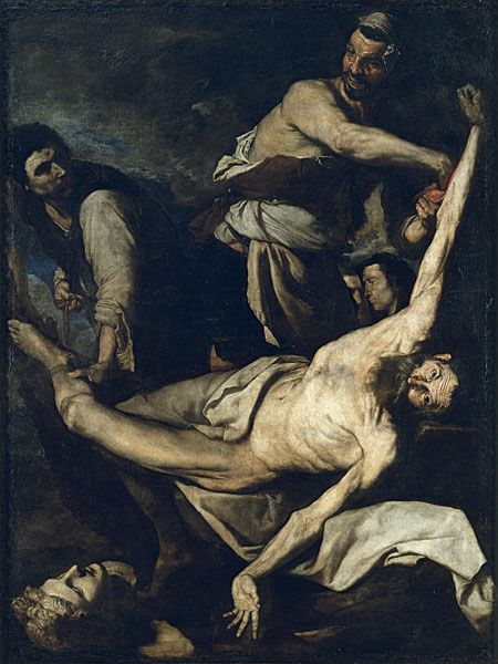 JOSEP DE RIBERA OR JUSEPE DE RIBERA, KNOWN AS 'LO SPAGNOLETTO' / Martyrdom of Saint Bartholomew (1644)