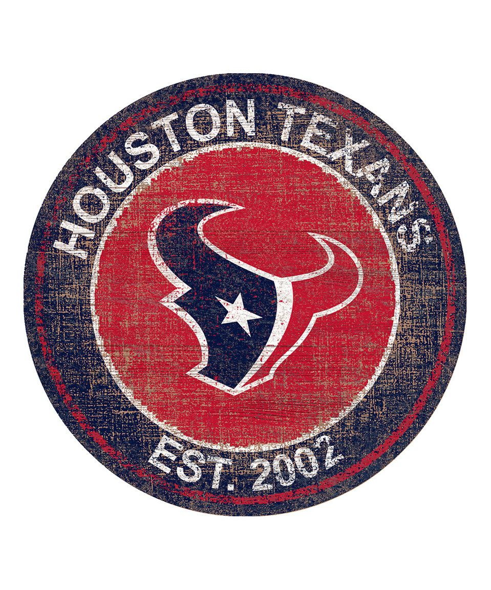 Houston texans heritage logo sign by nfl zulily zulilyfinds