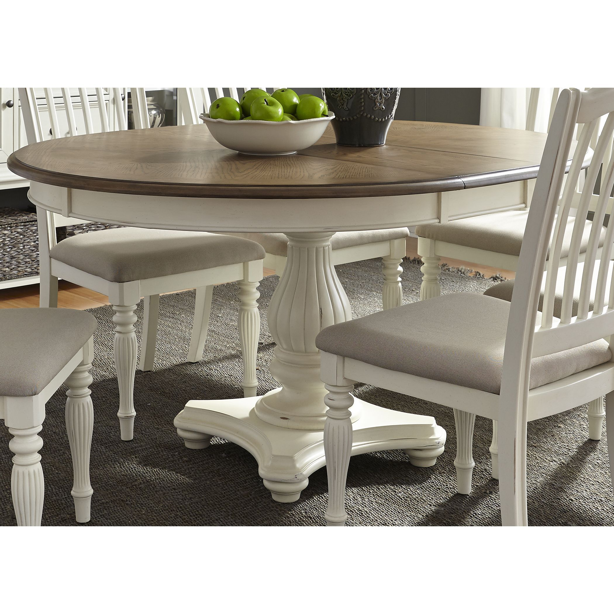 Liberty Cumberland Creek X Single Pedestal Oval Dinette Table - Single pedestal rectangular dining table