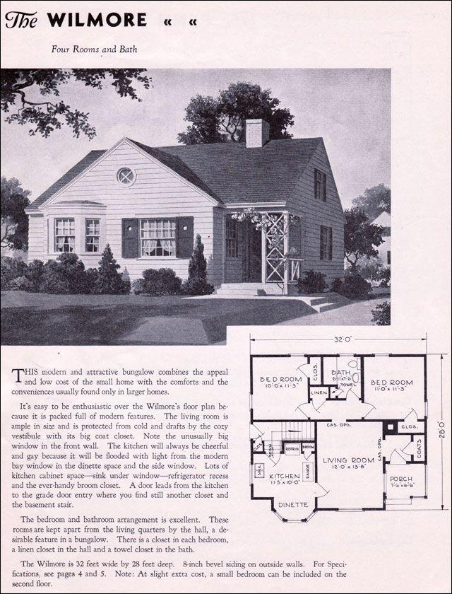 1935 Gordon Van Tine Homes - The Wilmore | plain-pied | Pinterest ...