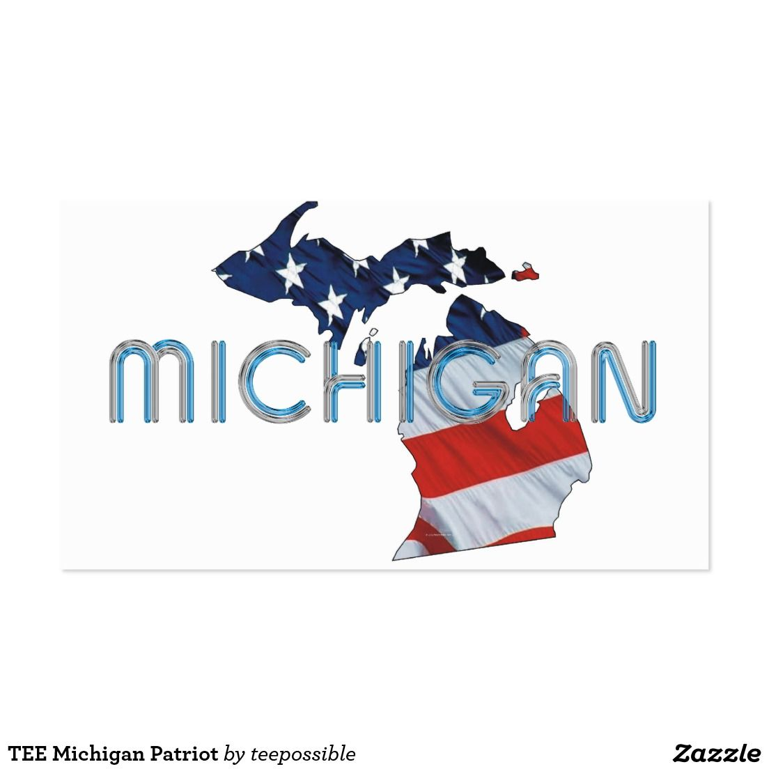 Tee michigan patriot large business card teepossible pinterest tee michigan patriot large business card colourmoves