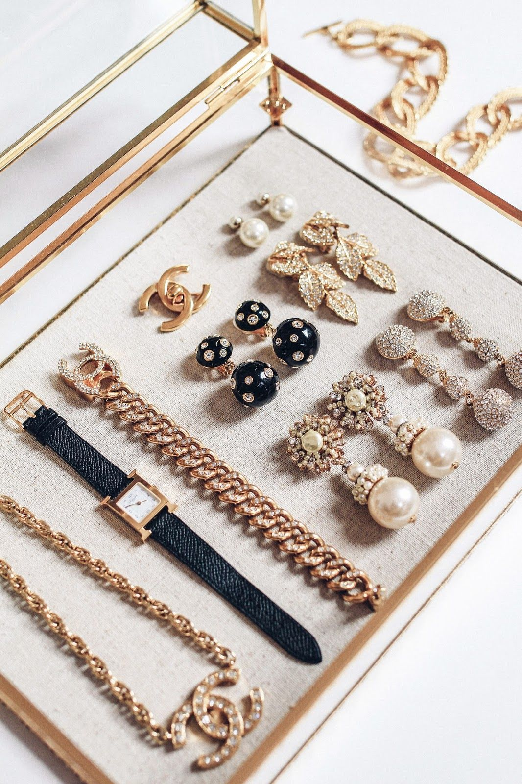 Blogger Jewelry Organizer Box Glass Jewelry Box Pottery Barn Jewelry