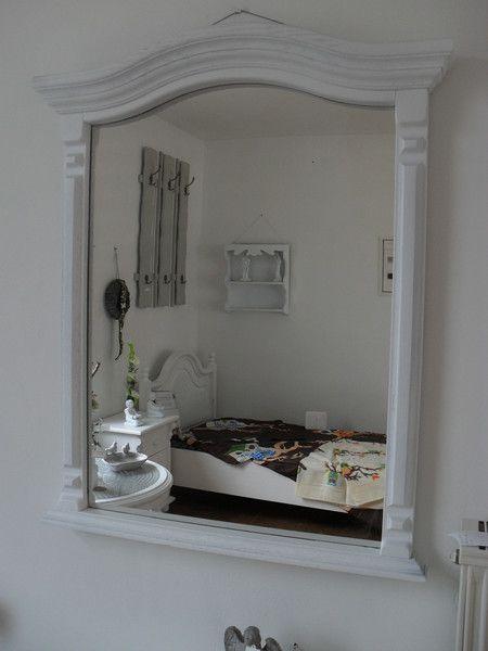 wandspiegel spiegel gro wandspiegel shabby wei holz. Black Bedroom Furniture Sets. Home Design Ideas