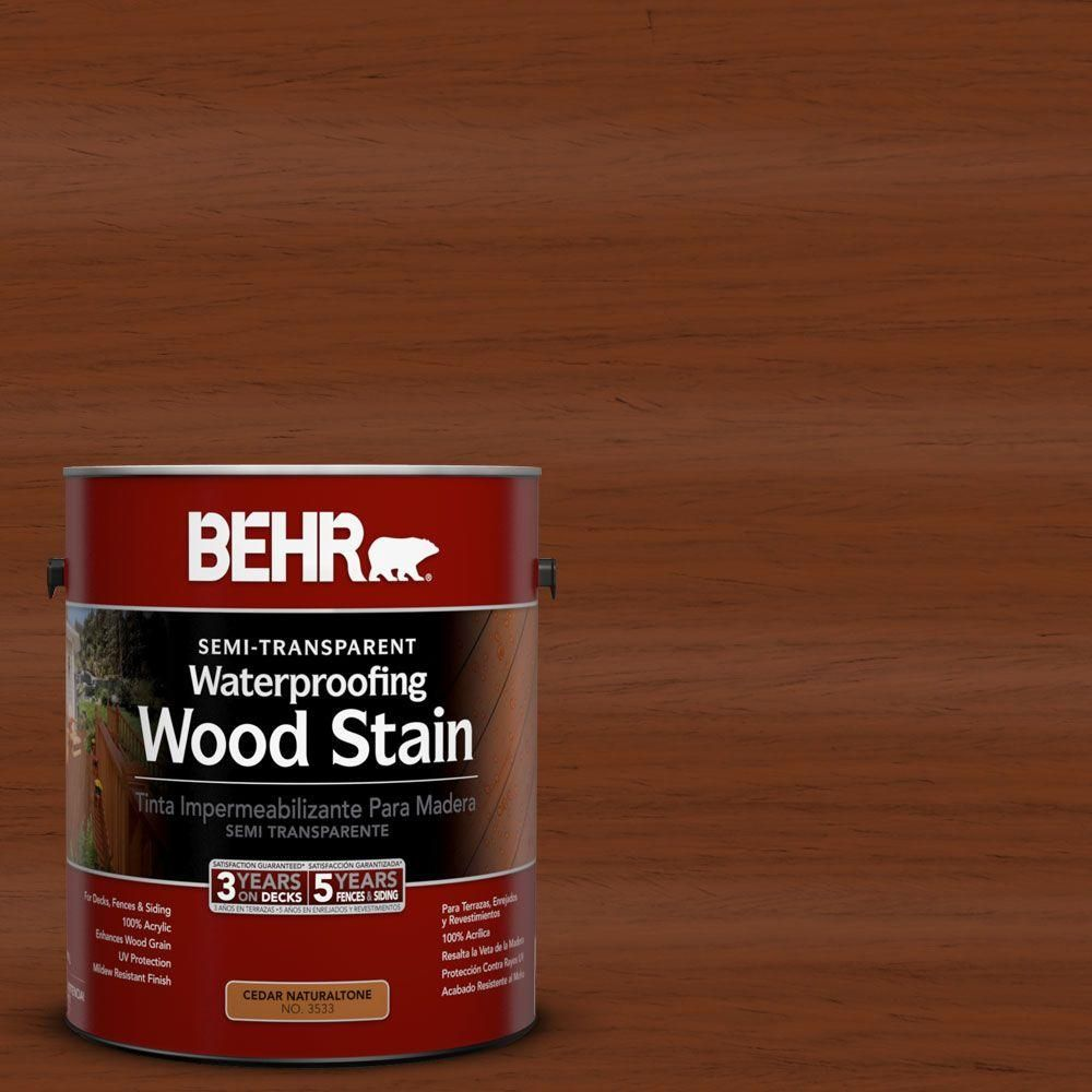 Woodbridge Home Exteriors: BEHR DECKplus 1 Gal. #ST-116 Woodbridge Semi-Transparent