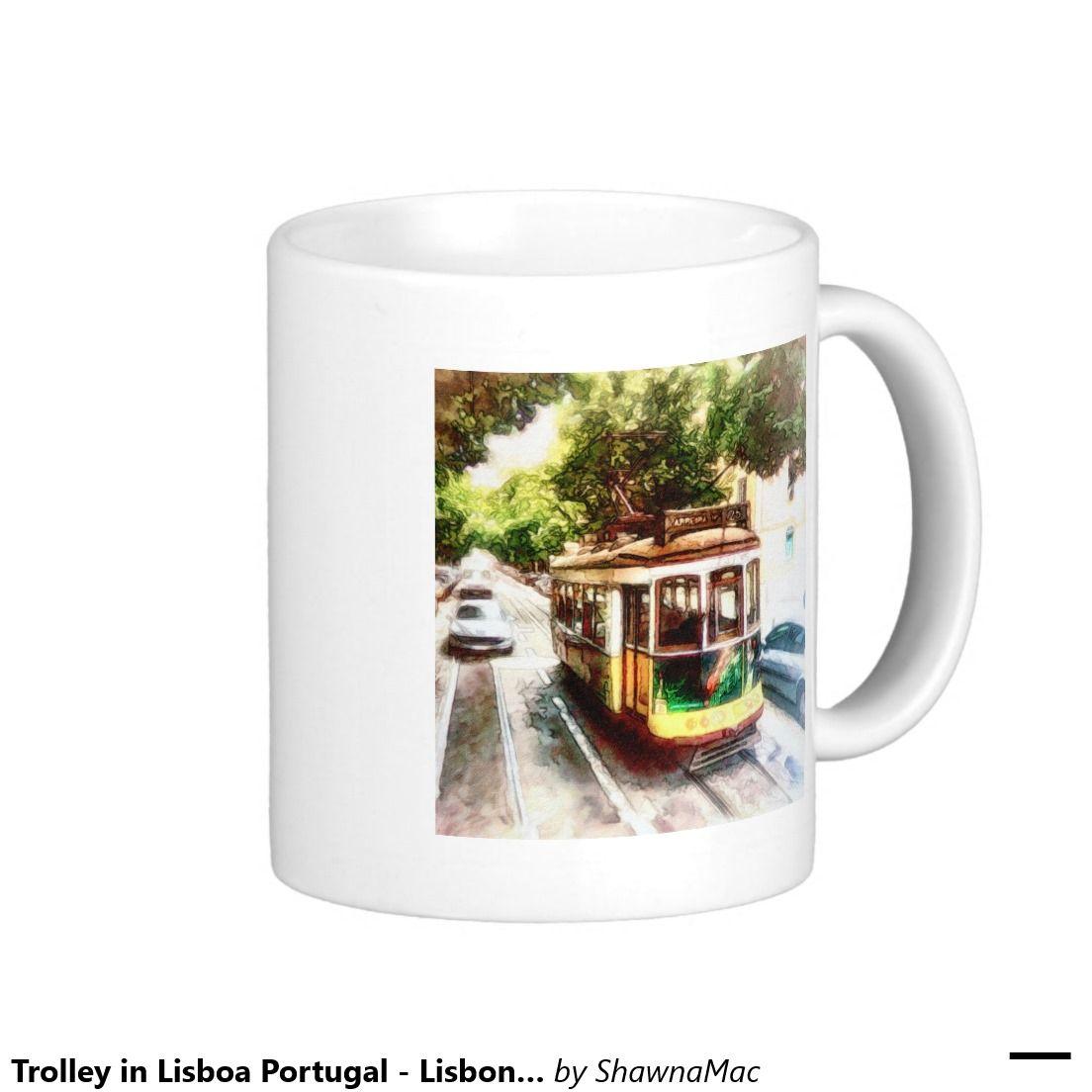 Trolley in Lisboa Portugal - Lisbon Streetcar Classic White Coffee Mug