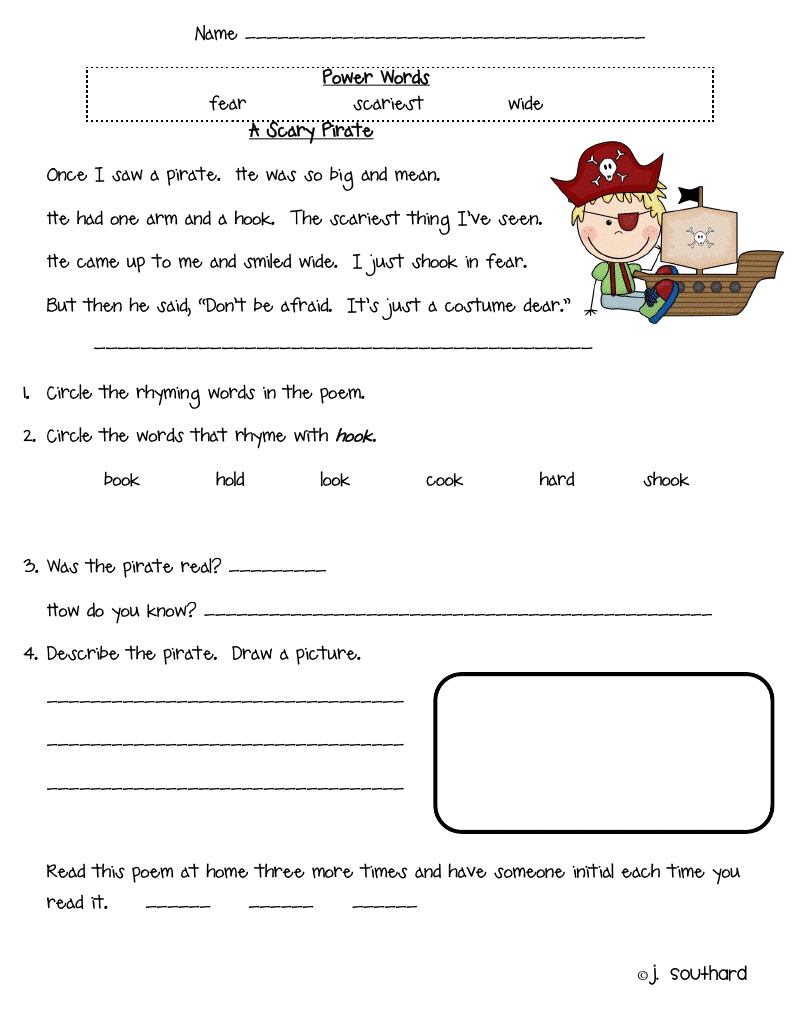 Worksheet Comprehension Passages For First Grade kids comprehension reading pinterest kid and student