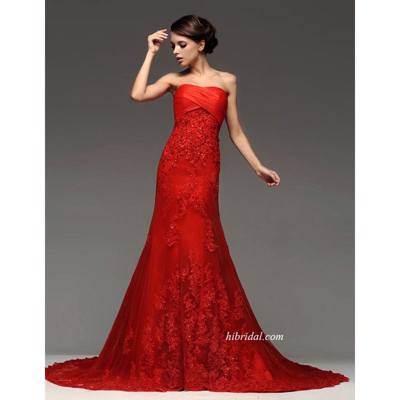 78 Best images about CHWV ♥ Red Wedding Dresses on Pinterest ...
