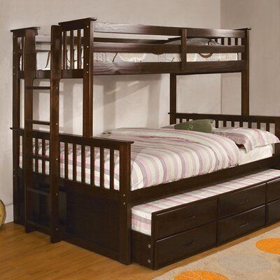 Harriet Bee Fairford Bunk Bed In 2020 Twin Full Bunk Bed Bunk