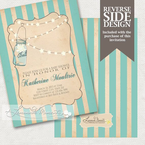 free printable mason jar invites mason jar baby shower invitation printable by my favorite color