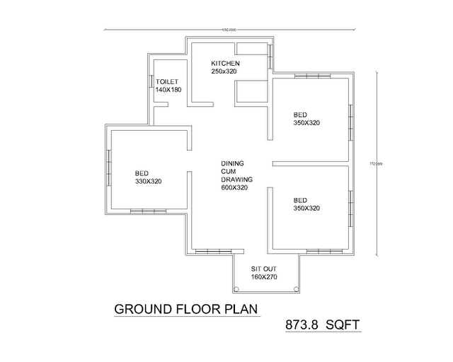 Interior Design For A Low Cost 2bhk Flat Ideas Designs Simple House Plans Simple Floor Plans House Plans