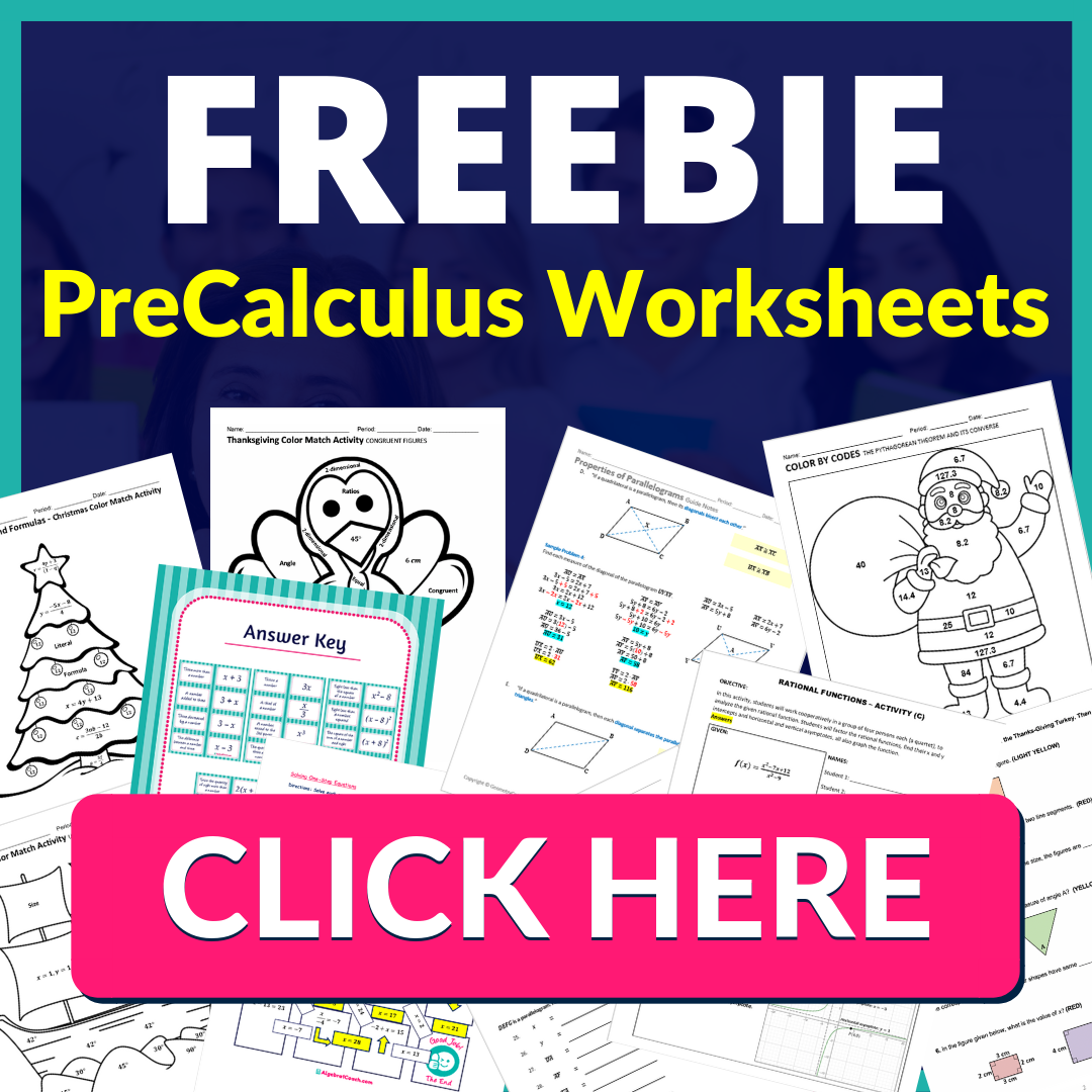 Free Pre Calculus Worksheets Free Pre Calculus Lesson